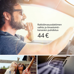 Nauti automatkoista puhtaassa sisäilmassa: meiltä nyt aktiivihiili-raitisilmasuodatin vaihdettuna sekä ilmastointikanavien puhdi...