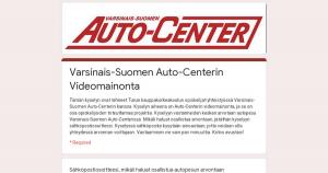 Varsinais-Suomen Auto-Centerin Videomainonta