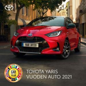 Uusi Yaris Hybrid – ladattu positiivisella energialla. Luokkansa taloudellisimpaan hybridiin. Hybridipaketti nyt 590 €.
