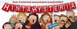 Hintahysteria valtaa taas Auto-Centerin!! https://www.toyotaautocenter.fi/yritys/ajankohtaista/hintahysteria-2.html